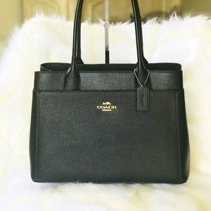 💃NWT COACH CASEY TOTE (F31474) BLACK/GOLD